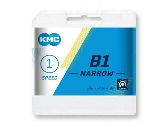 KMC B1 Narrow Chaîne 1-vitesses, silver